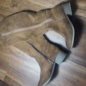 Faux leather suede tall boots